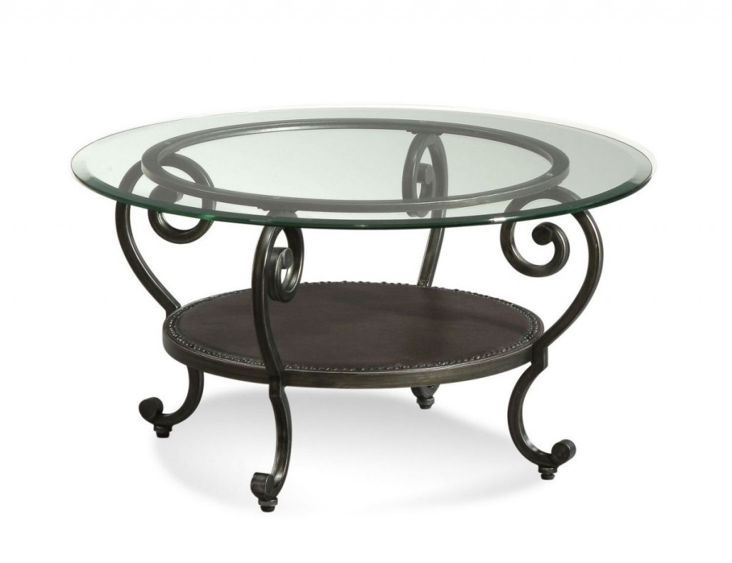 Elegant Wrought Iron Coffee Table Legs With Round Glass Top And Golden Wrought Iron In Wrought Round Glass Top Coffee Table Wrought Iron (Image 3 of 10)