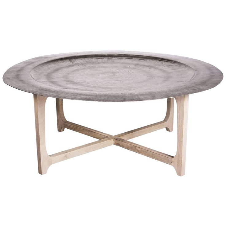 Delightful Evoke The Allure Of Morocco With The Laide Coffee Table Featuring A Simple  Natural Wood Round