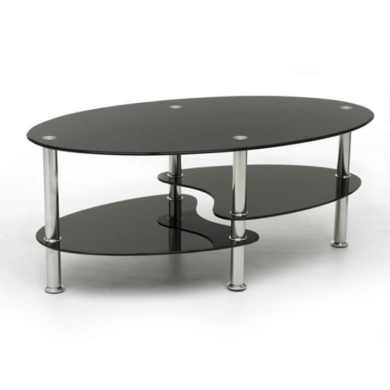 Excellent Glass Coffee Table Digital Picture Idea Home Interior Ideas Round Black Glass Coffee Table Round Black End Table (Image 3 of 10)