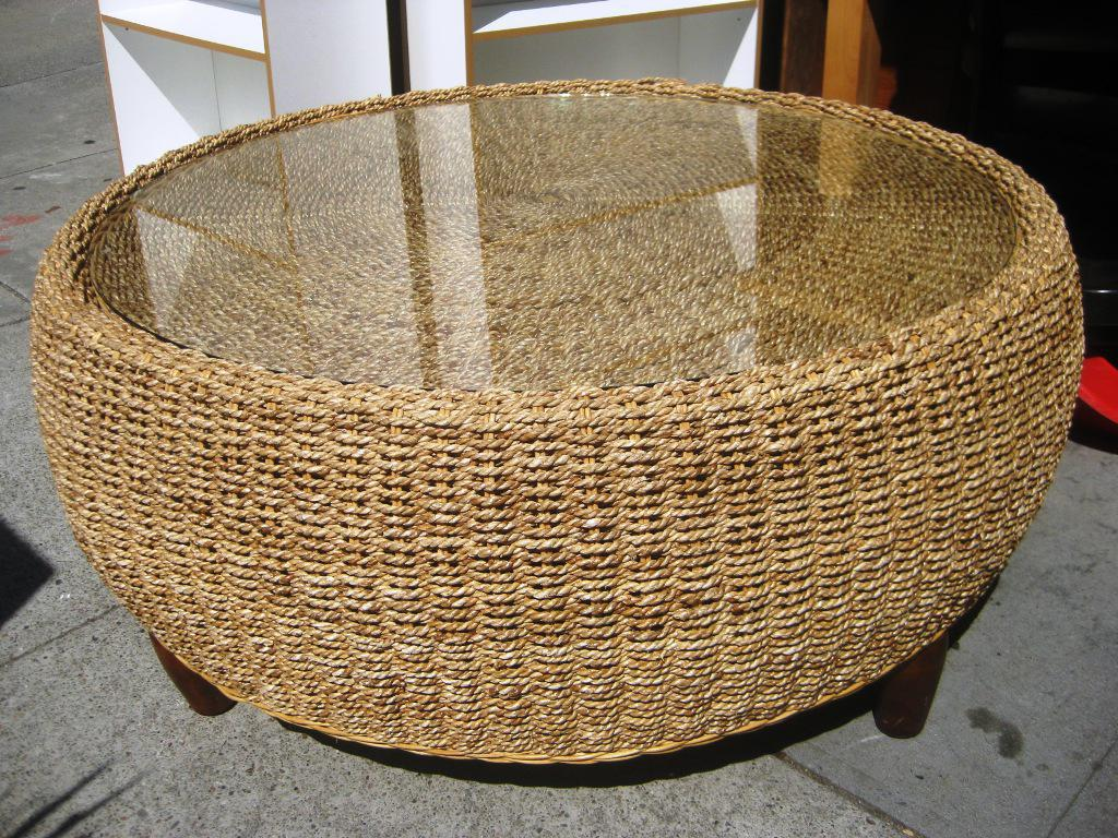 Fabulous Wicker Chest Round Wicker Coffee Table Round Wicker End Table Wicker Porch Furniture Wicker Kitchen Chairs (View 4 of 10)