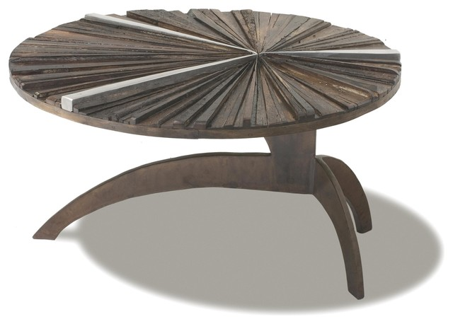 Ferpas Coffee Table Round Contemporary Coffee Tables Unique Round Brown Stained Wooden Coffee Table (Image 4 of 10)