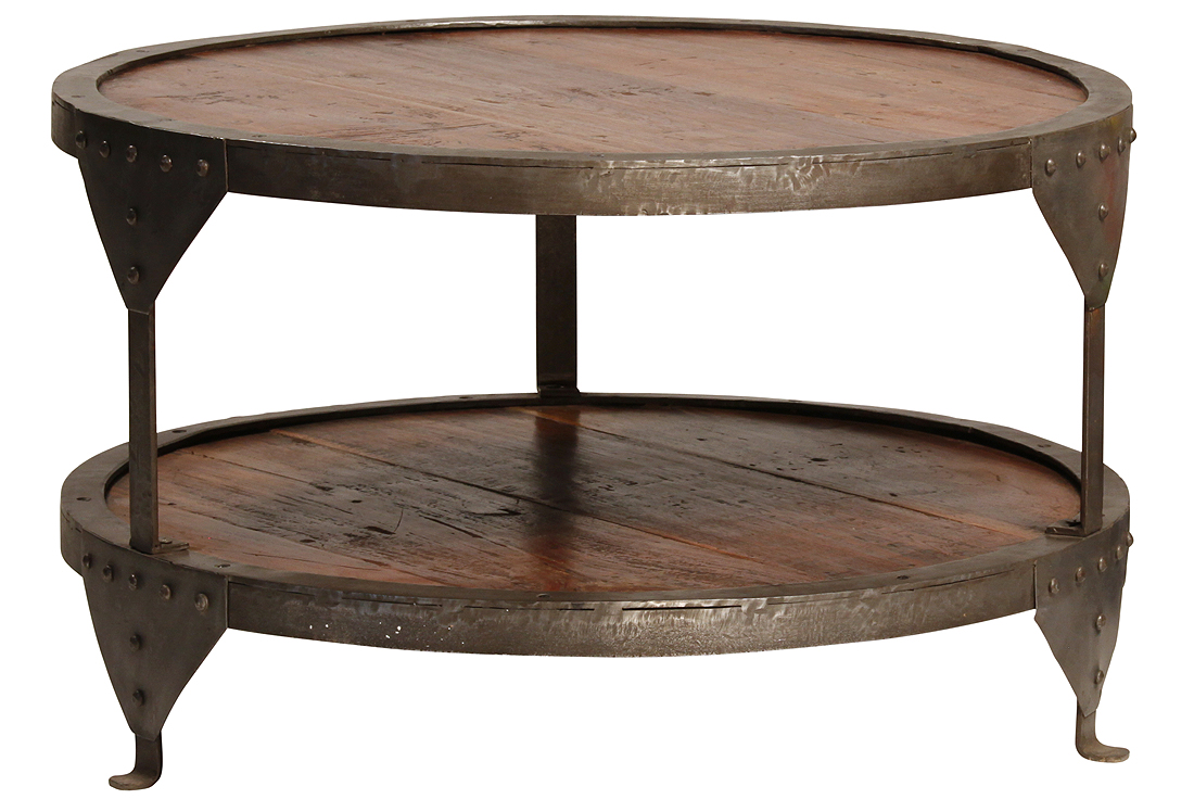 Figaro Iron Round Coffee Table 30 Round Coffee Table 30 Round Steel Coffee Table Round Wooden Coffee Table (View 3 of 10)