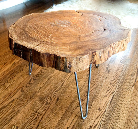 Four Legs Round Trunk Coffee Table Eclectic Coffee Tables (Image 2 of 10)
