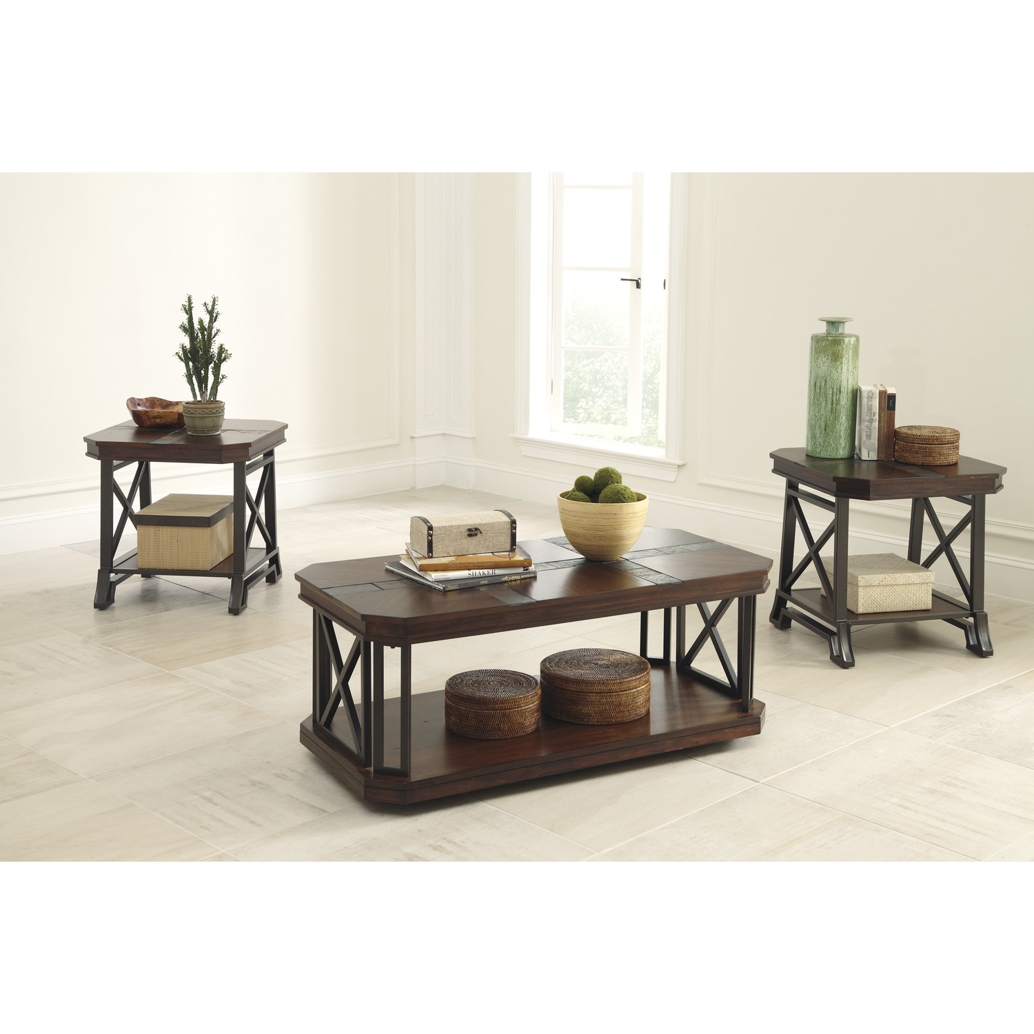 free-download-3-Pieces-Coffee-Tables-Sets-brown-color-square-shape-free-download (Image 5 of 10)