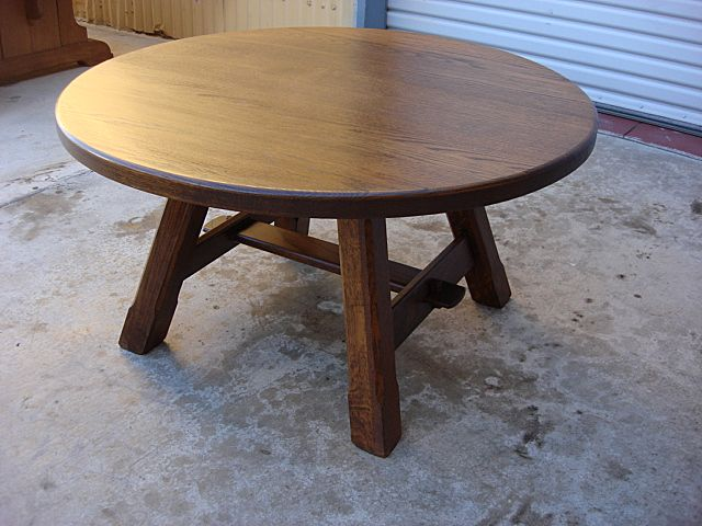 Charming French Antique Rustic Coffee Table Round Antique Furniture