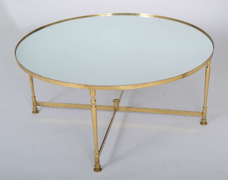 French Vintage Round Brass Coffee Table Round Brass Coffee Table Glass And Brass Coffee Tables Brass Coffee Table (View 4 of 10)