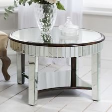 Furniture Mirrored Coffee Table Round Slim Sleek And Transparent About All Home Ideas And Gallery Pictures (Image 3 of 10)