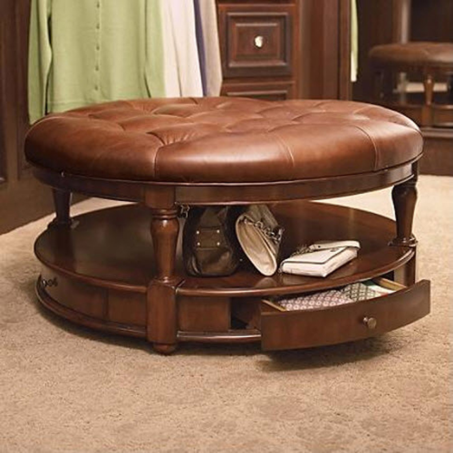 Gallery Of Living Room Round Ottoman Coffee Table