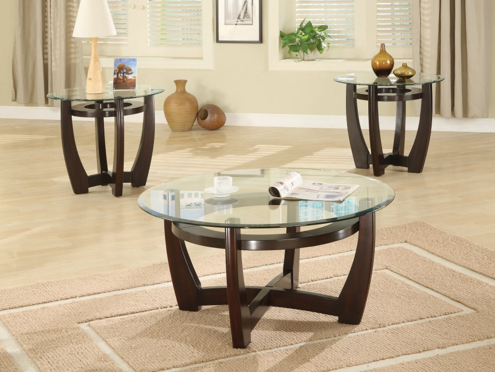 Gallery Pics For Round Glass And Wood Coffee Table Glass Round Coffee Table  As Modern Style