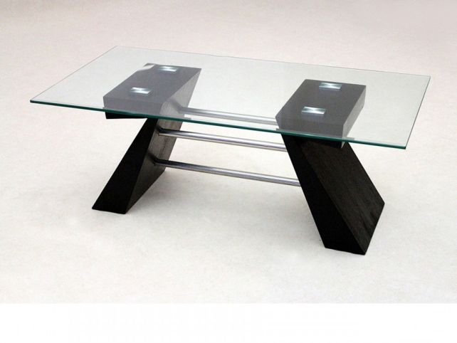 Glass And Dark Wood Coffee Table Corno Dark Wood And Black Lower Glass Coffee Table Simple Designs (View 3 of 9)
