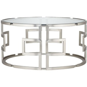 glass-and-silver-coffee-table-round-coffee-tables-with-appealing-silver-frame-become-iconic-furniture-for-living-room (Image 4 of 9)