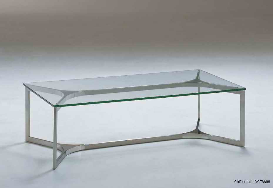 Glass And Stainless Steel Coffee Table Villiers Furniture A Quote Must Be Requested For Delivery And Installation Options Bespoke Sizes And Finishe (Image 10 of 10)