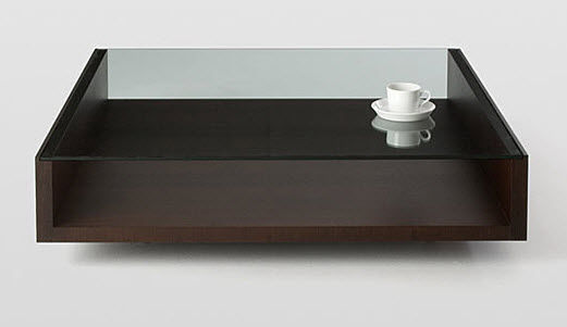 Glass And Wood Coffee Table Complete With A Premotech Motor And A Rega Tonearm This One S Sophisticated And Suave (View 4 of 10)