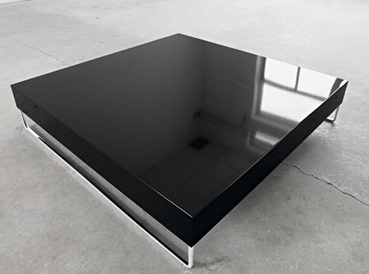 Glass Coffee Table Modern Simple Cross Coffee Table Design Furniture Black Color Silver Legs Cromes (Image 9 of 10)