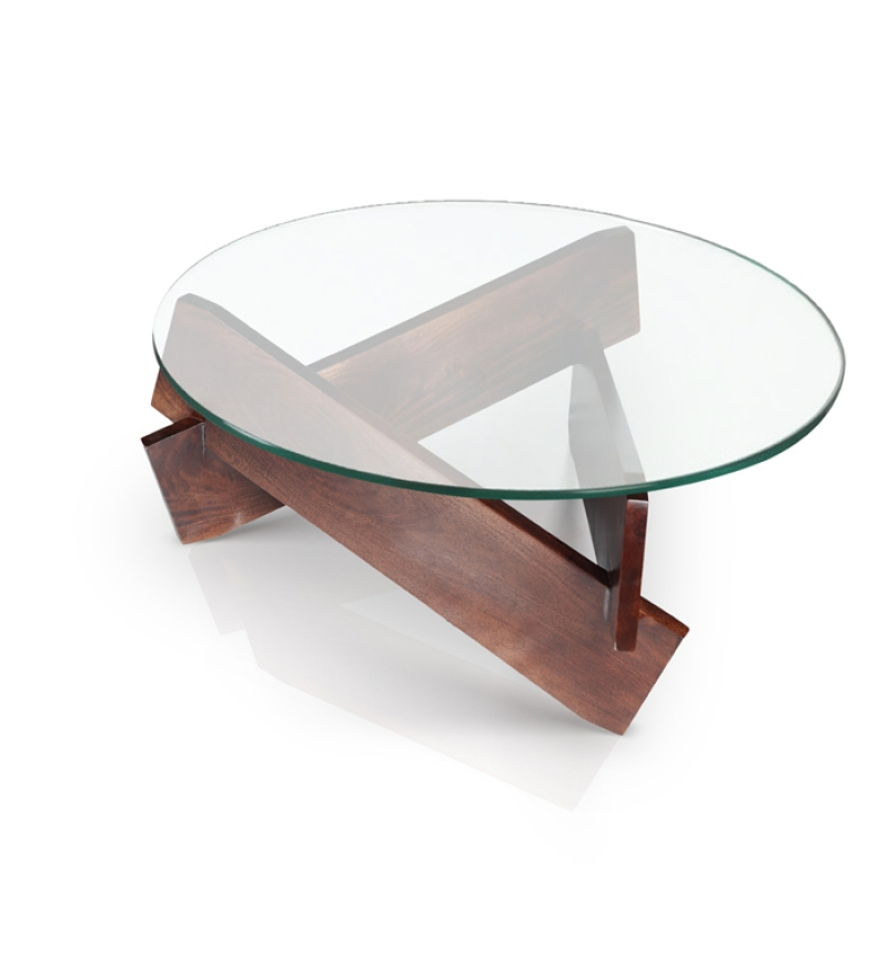 Glass Coffee Table There Are Many Materials That Can Be Used For Creating A Table And This Is One Of Great Products Of Table Coffee Tables Round Glass (Image 3 of 10)