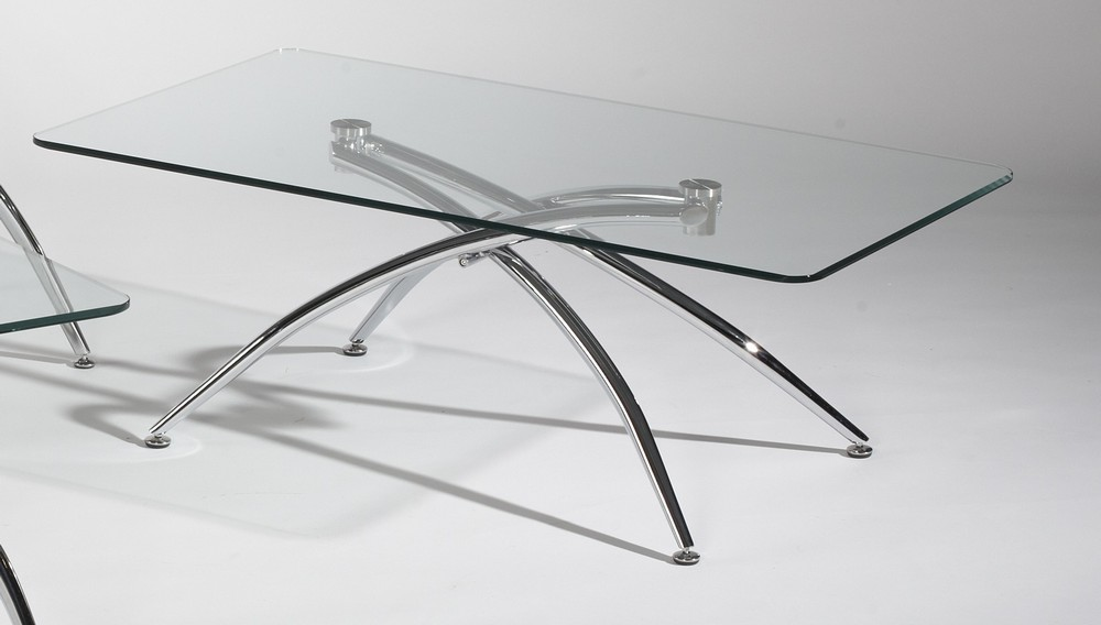 Glass Coffee Tables For Sale Chintaly Imports Elaine 48x28 Rectangular Coffee Table W Glass Top (Image 2 of 9)