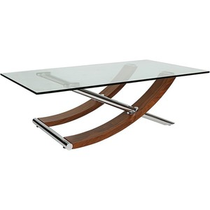 Glass Coffee Tables For Sale Universal Lighting And Decor Robin Walnut Glass Top Coffee Table (Image 8 of 9)
