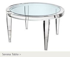 Glass Coffee Tables Round Coffee Table Living Room Lucite Coffee Table Round Acrylic Coffee Tables Furniture (Image 4 of 10)