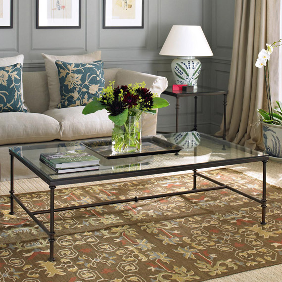 Featured Photo of Glass Iron Coffee Table Furniture Sets