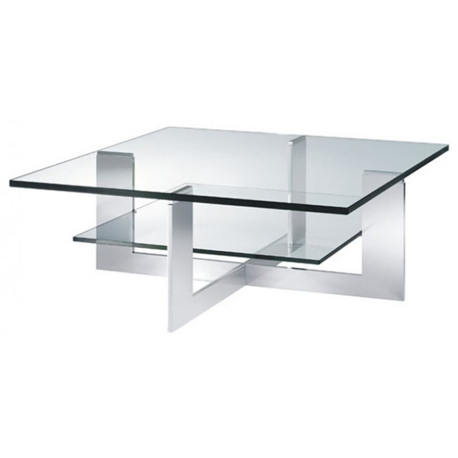 Glass Modern Coffee Table Bacher Crossfire Luxury Glass Coffees Tables Unique Design Modern Rooms (Image 2 of 10)