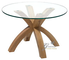 Glass Top Coffee Table Cheap Solid Oak With Round Tempered Glass Top Coffee Table Round Glass Top Coffee Tables (View 4 of 10)