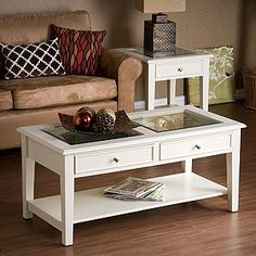 Glass Top Coffee Table With Storage Aristo Gloss White Coffee Table This Beautiful White Coffee Table Will Serve As The Perfect Addition To Any Study Or Family (Image 2 of 10)