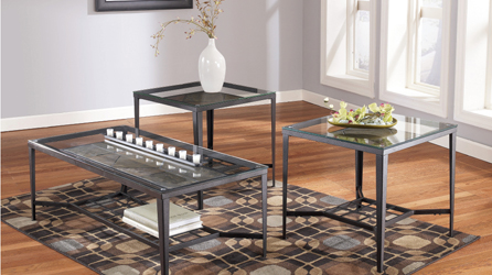 Glass Top Coffee Tables And End Tables Give A New Look To Your Room By Adding This Warm Coffee Table Group Into Your Family Room Furniture Set (Image 6 of 10)