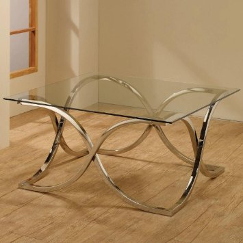 Featured Photo of Glass Top Metal Base Coffee Table