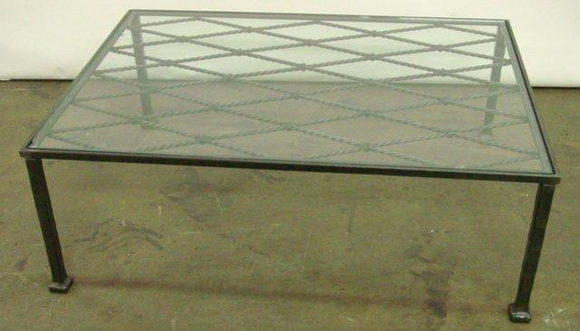 Featured Photo of Square Glass Top Metal Coffee Table