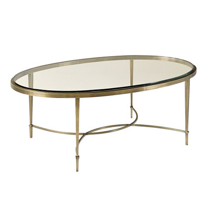 Featured Photo of Glass Top Oval Coffee Table Contemporary