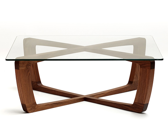 Glass Top Wood Coffee Table And Would Work Well In A Reception Foyer Club Or Bar As Well As The Home Unique Design (Image 2 of 10)