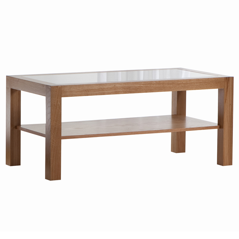 Glass Top Wood Coffee Table Manchester Wood Glass Top Square Coffee Tables Golden Oak Simple Design Ideas (Image 5 of 10)