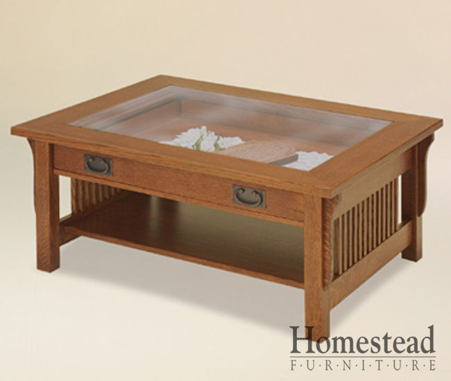 Glass Top Wooden Coffee Table Customize This Piece With A Variety Of Hardwoods And Finishes That Are Available To Help You Create The Look You Desire (Image 2 of 10)