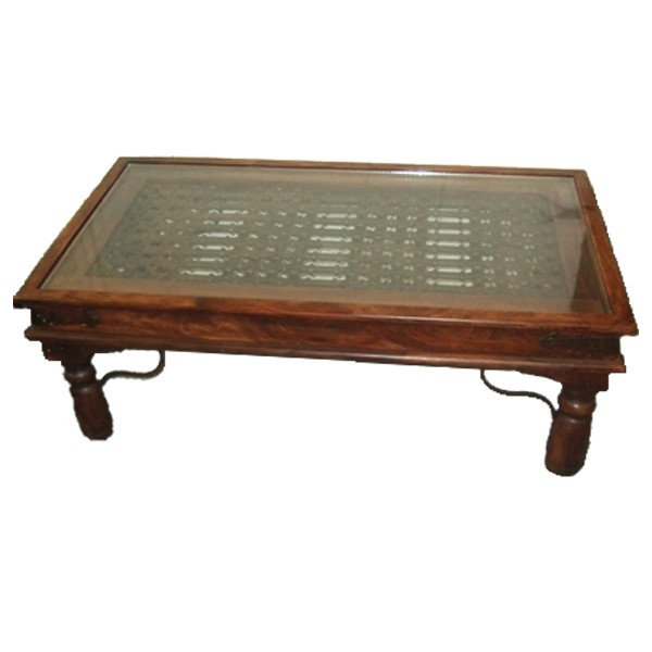 Glass Topped Coffee Tables Uk Jali Thakat Glass Top Coffee Table Old Oak Wooden Interior Sets Designs (Image 4 of 10)