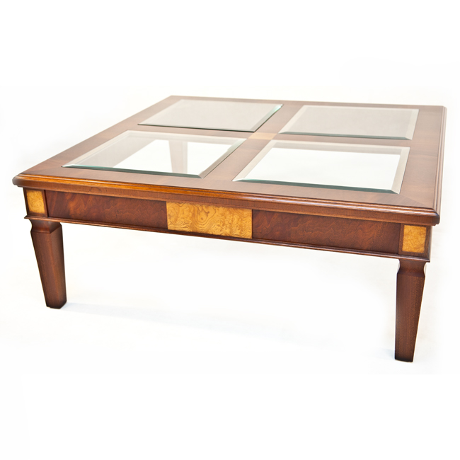 Glass Topped Coffee Tables Uk Tempered Glass And Marble Design Square Center Table For Living Room Furniture Charles Barr Grandeur (Image 9 of 10)
