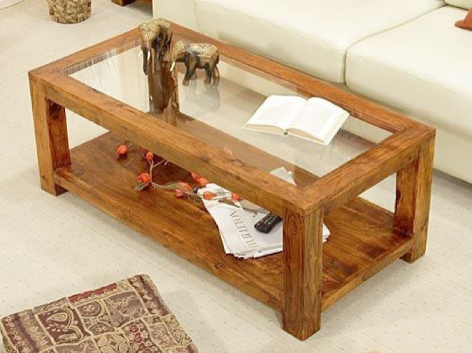 Glass Topped Coffee Tables Uk Wooden Coffee Table Acacia Wood Table With Glass Top And Bottom Shelf Old Oak Designs (Image 10 of 10)
