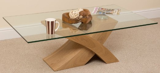 glass-wood-coffee-table-Milano-X-Glass-Wood-Coffee-Table-Oak-135-W-x-80-D-x-unique-design-interior (Image 4 of 10)