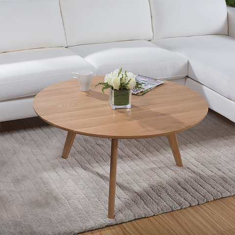 Good Wood Coffee Table Scandinavian Minimalist Small Apartment Wood White Oak Coffee Table White Wood Round Coffee Table (View 2 of 10)