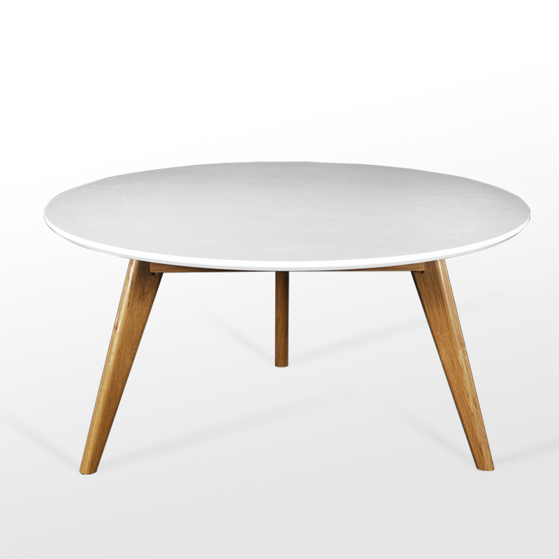 Best 10 Of White Wood Round Coffee Table