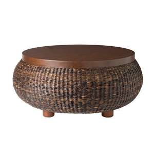 Havanawood Coffee Table Table Reveals The Beautiful Color Variations And Texture Of The Fibers Seagrass Round Coffee Table (Image 2 of 10)