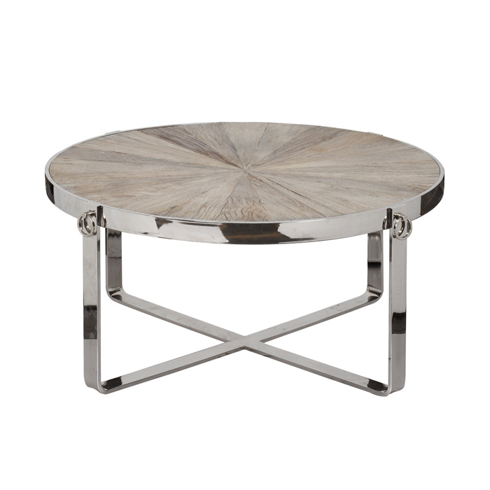 Featured Photo of Elegant Round Chrome Coffee Table