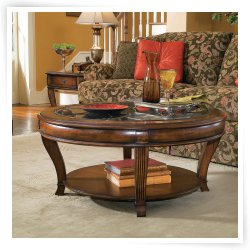 Hooker Furniture Brookhaven 3 Piece Round Coffee Table Set End Tables For Living Room Round Coffee Table Sets (Image 6 of 10)