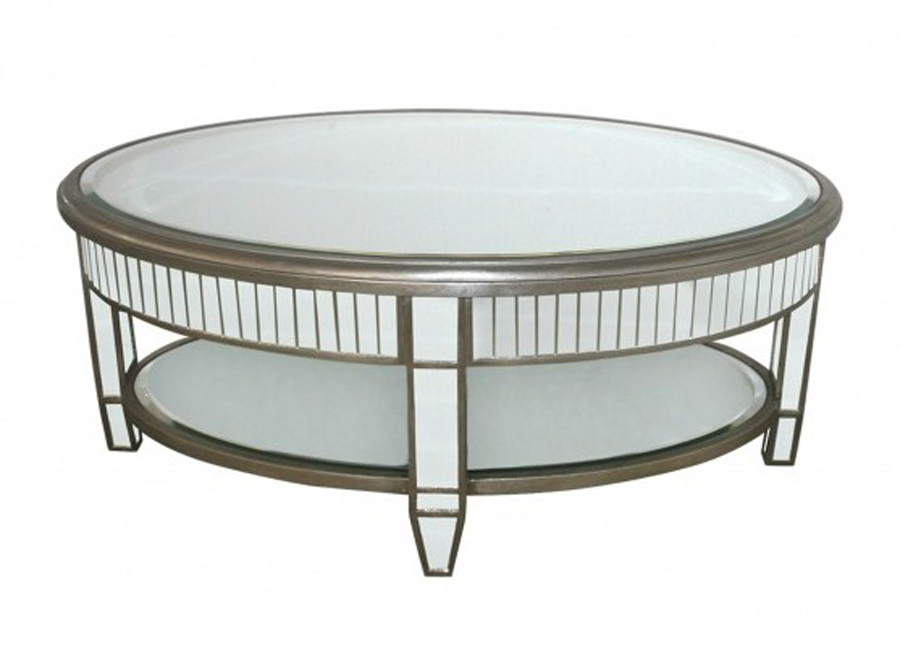 How To Decorate A Mirrored Coffee Table New Mirrored Coffee Table Mirrored Round Coffee Table (Image 2 of 10)