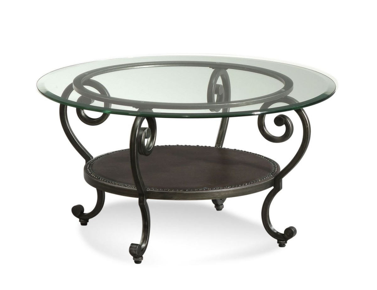 Featured Photo of Modern Round Glass Coffee Table Metal Base
