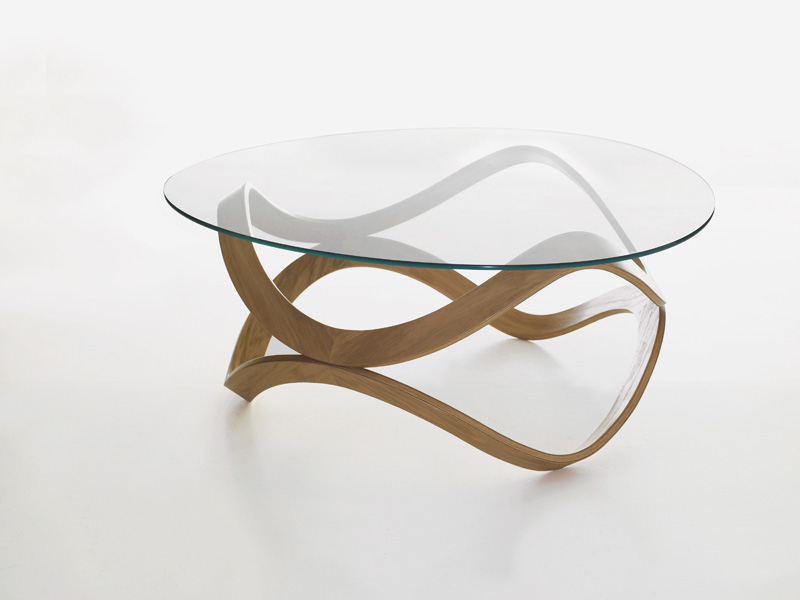 Featured Photo of Round Glass Coffee Tables Wood Base