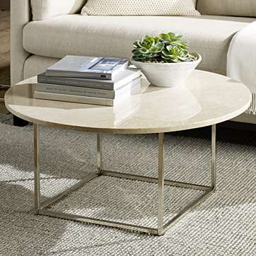 i-like-the-round-shape-to-this-coffee-table-i-also-like-the-look-and-feel-of-marble-easy-to-clean-and-gives-a-sleek-clean-look-to-the-room-marble-top-round-coffee-table (Image 3 of 10)