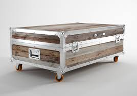 Images Modern Wood Coffee Table Reclaimed Metal Mid Century Round Natural Diy All Cheap Modern Trunk Coffee Table (Image 4 of 10)
