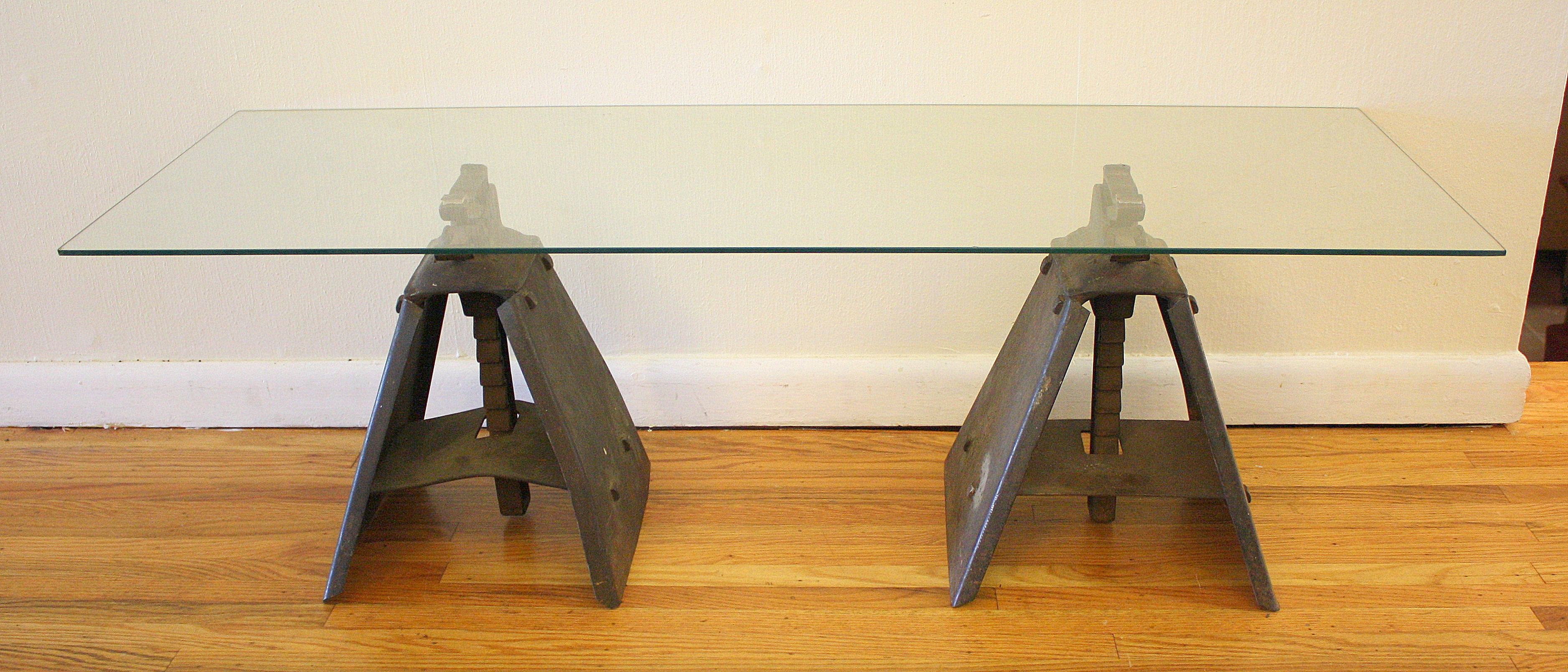 Industrial Glass Coffee Table Which Is Formed In Brushed Stainless Steel This Table Is Made From Standard (View 8 of 9)