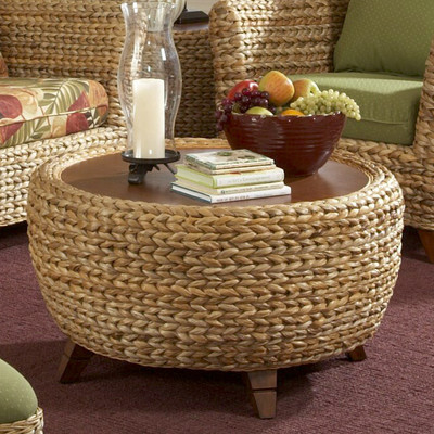 Insignia Coffee Table Paradise Coffee Table Seagrass Round Coffee Table Seagrass Coffee Table With Storage (Image 3 of 10)