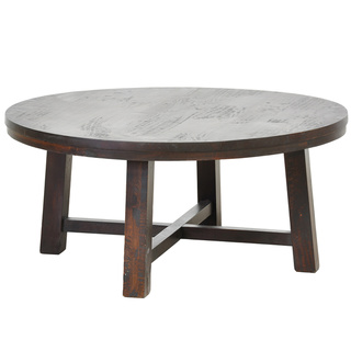 iola-rustic-brown-round-coffee-table-kosas-home-dyson-round-coffee-table-round-pine-coffee-table-pine-round-cocktail-table (Image 1 of 10)